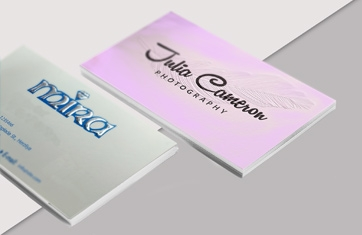 כרטיסי ביקור עם הבלטה