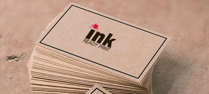 בחירת סוג נייר לכרטיסי ביקור