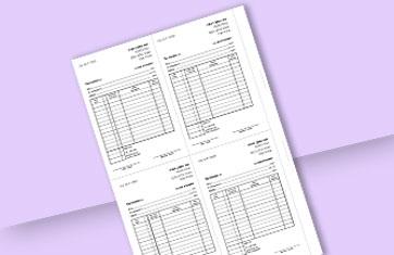 חשבונית מס קבלה 4 בדף