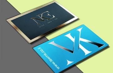 כרטיסי ביקור עם הטבעה 5X9