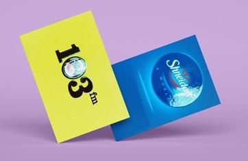 כרטיסי ביקור לכה סלקטיבית 8.4X5.5