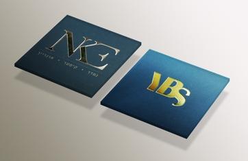 כרטיסי ביקור עם הטבעה 5.5X5.5