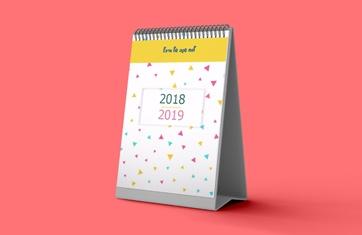 לוח שנה שולחני מעמד דקל עומד